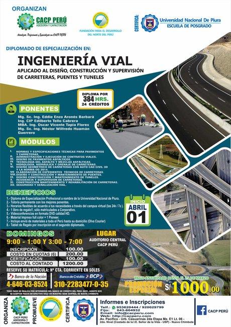 Cacp Perú Diplomado Ingeniería Vial 2018 I